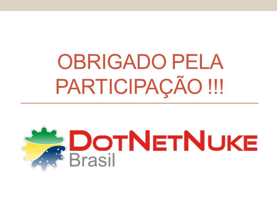 OBRIGADO PELA PARTICIPAÇÃO !!!