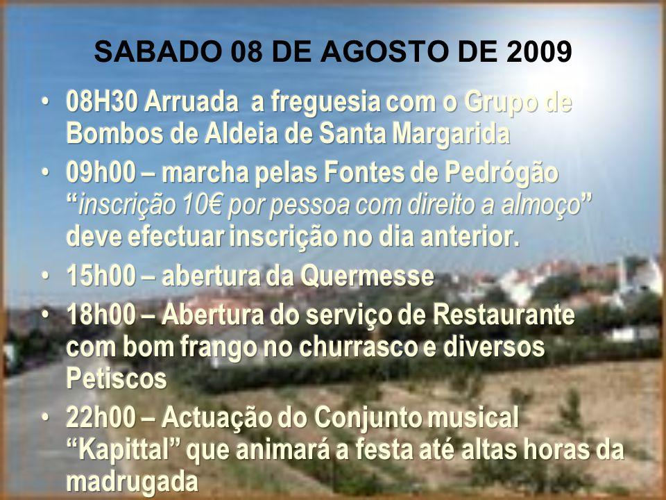 SABADO 08 DE AGOSTO DE 2009