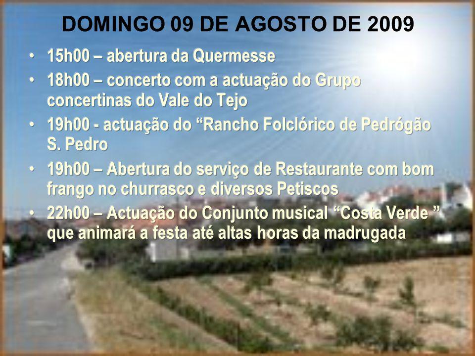 DOMINGO 09 DE AGOSTO DE 2009