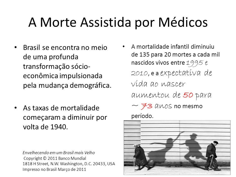 Brasil se encontra no meio de uma profunda transformação sócio- econômica impulsionada pela mudança demográfica. As taxas de mortalidade começaram a d