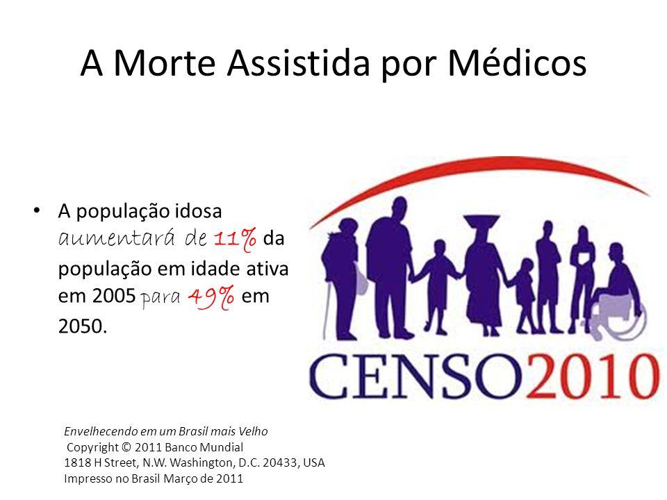 A população idosa aumentará de 11% da população em idade ativa em 2005 para 49% em 2050. Envelhecendo em um Brasil mais Velho Copyright © 2011 Banco M