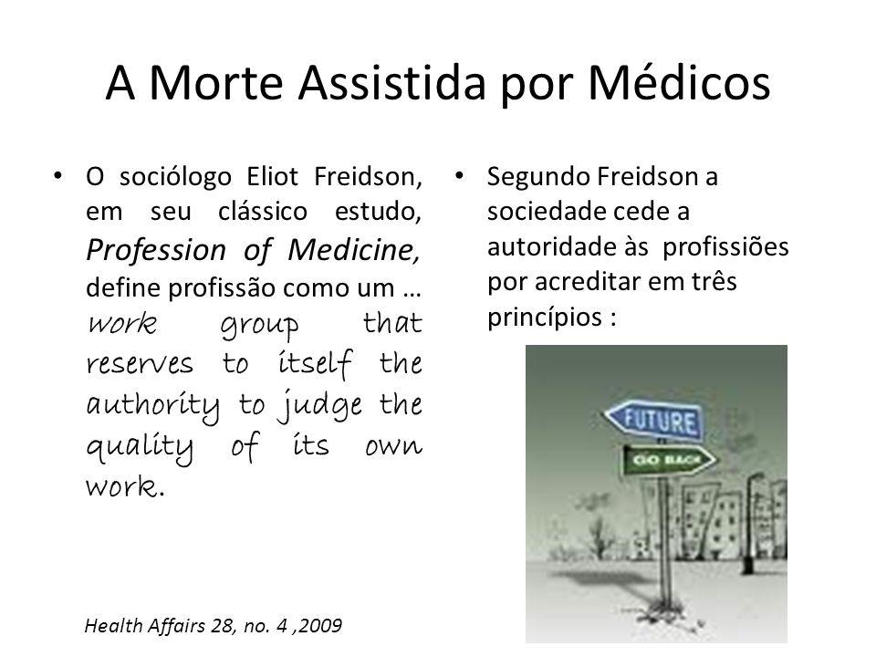 O sociólogo Eliot Freidson, em seu clássico estudo, Profession of Medicine, define profissão como um … work group that reserves to itself the authorit