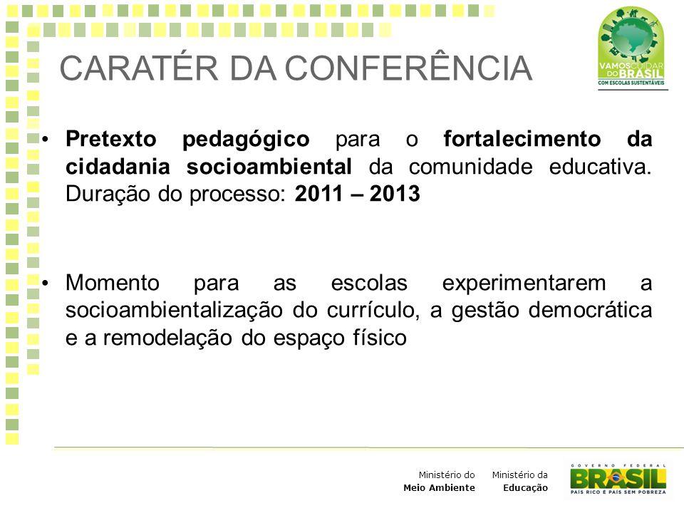 Ministério da Educação Ministério do Meio Ambiente Pretexto pedagógico para o fortalecimento da cidadania socioambiental da comunidade educativa. Dura