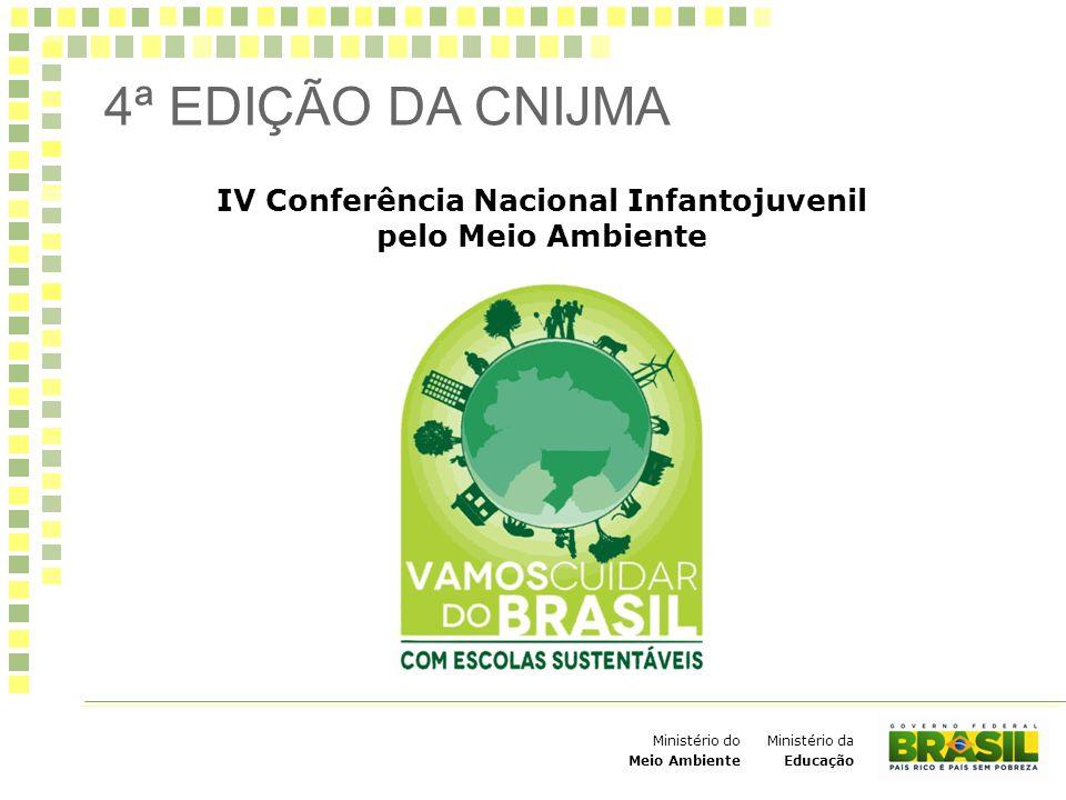 Ministério da Educação Ministério do Meio Ambiente Contribuir para tornar as escolas participantes da IV Conferência em espaços educadores sustentáveis.