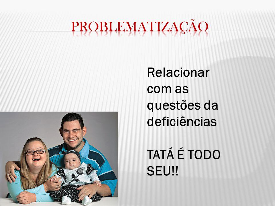 Relacionar com as questões da deficiências TATÁ É TODO SEU!!