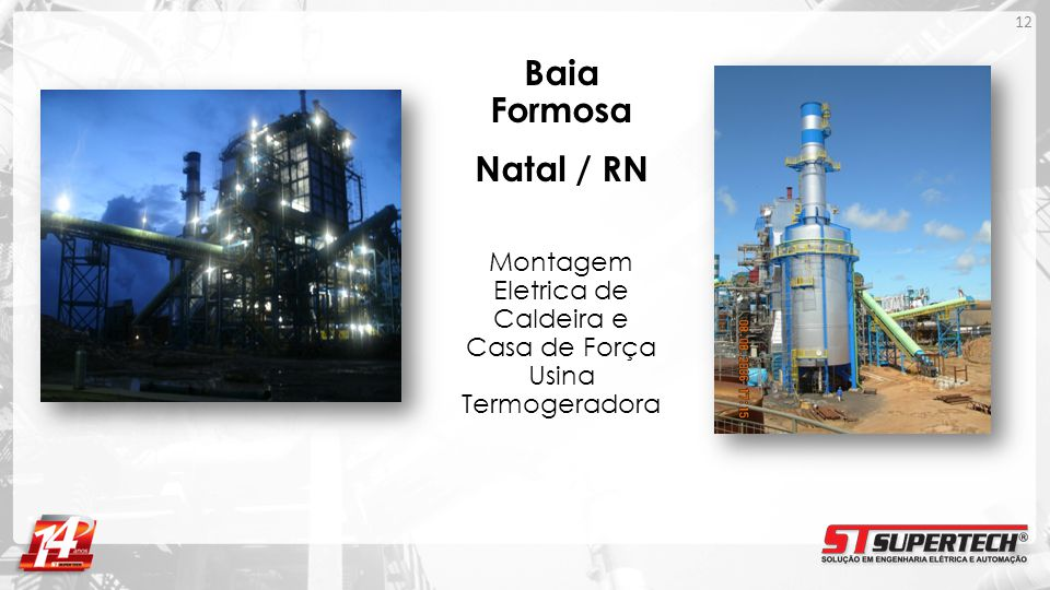 Baia Formosa Natal / RN Montagem Eletrica de Caldeira e Casa de Força Usina Termogeradora 12