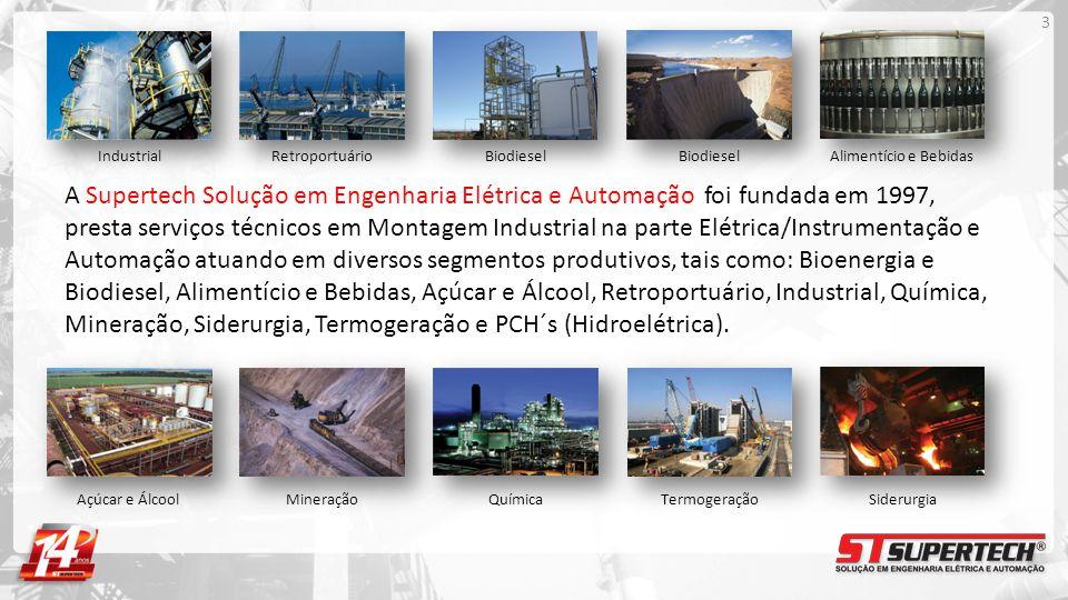 A Supertech Solução em Engenharia Elétrica e Automação foi fundada em 1997, presta serviços técnicos em Montagem Industrial na parte Elétrica/Instrume