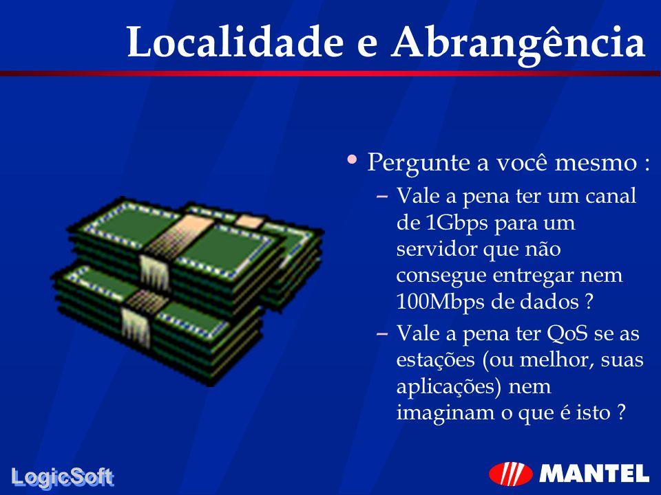 LogicSoft Localidade e Abrangência Pergunte a você mesmo : – Vale a pena ter um canal de 1Gbps para um servidor que não consegue entregar nem 100Mbps