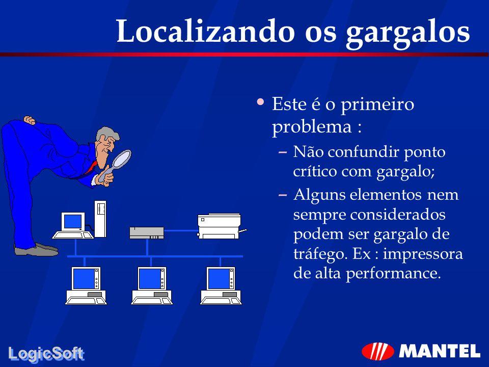 LogicSoft Localizando os gargalos Este é o primeiro problema : – Não confundir ponto crítico com gargalo; – Alguns elementos nem sempre considerados p
