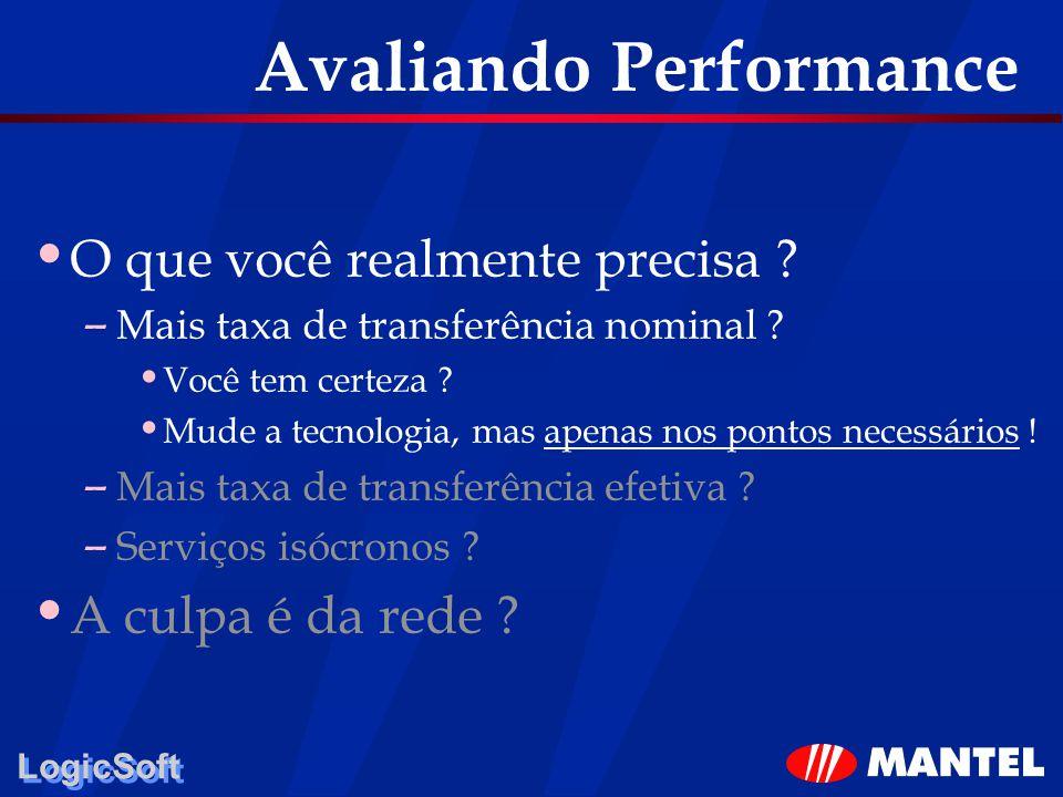 LogicSoft Avaliando Performance O que você realmente precisa ? – Mais taxa de transferência nominal ? Você tem certeza ? Mude a tecnologia, mas apenas