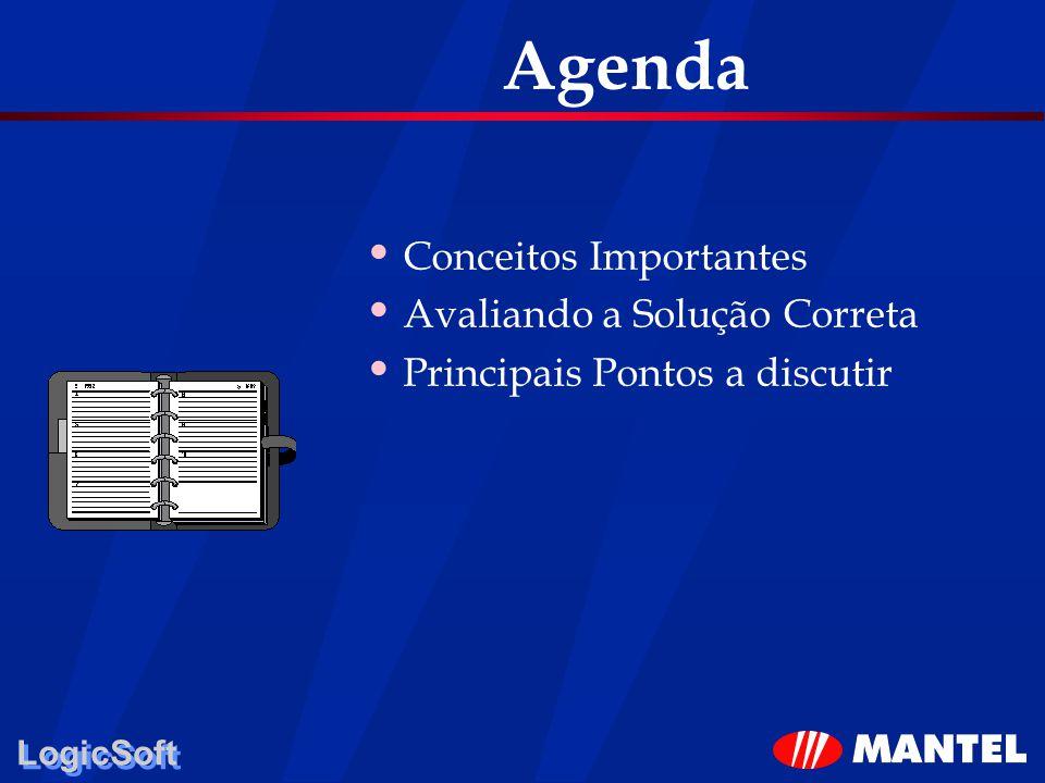 LogicSoft Agenda Conceitos Importantes Avaliando a Solução Correta Principais Pontos a discutir