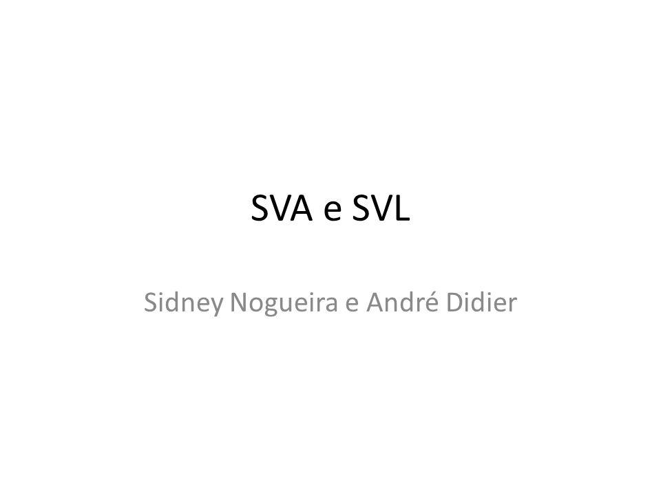 SVA e SVL Sidney Nogueira e André Didier