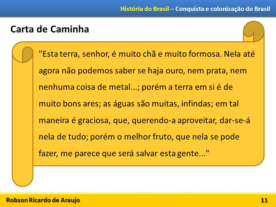 Robson Ricardo de Araujo História do Brasil – Conquista e colonização do Brasil 11