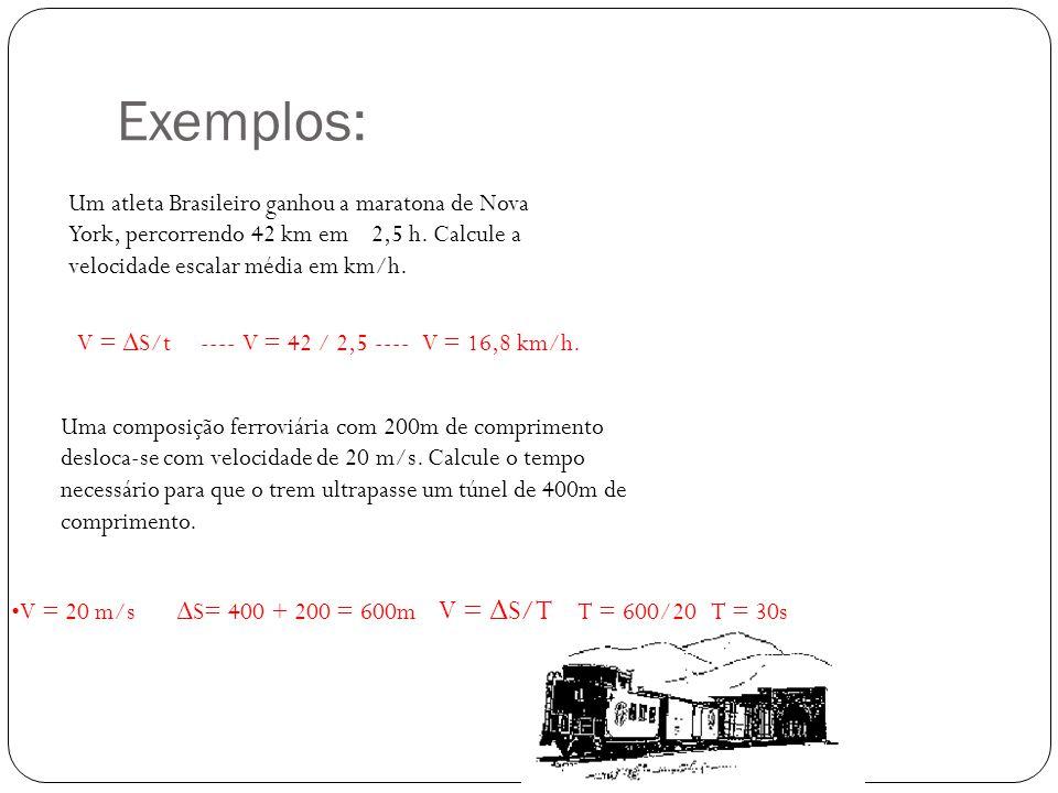 solução V m = Δ S/ Δ t = 2 / 0,1 = 20 m/s ---------- 20 x 3,6 = 72 km/h. O veículo foi fotografado, porque estava com a velocidade acima da permitida