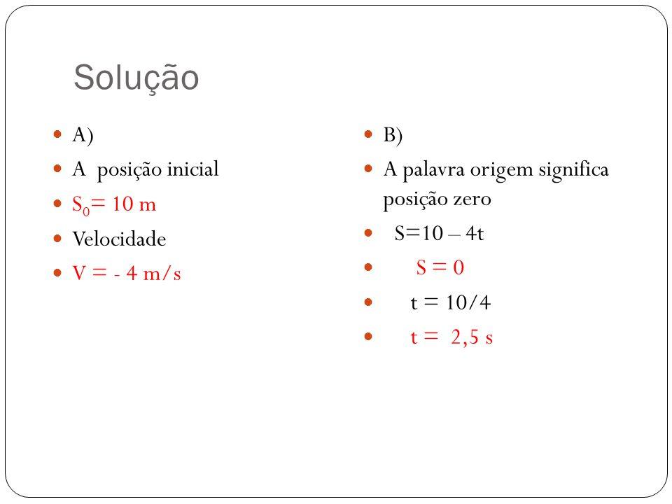 Função horária dos espaços S = s0 + v.tS = posição finalS0 =posição inicial V = velocidade constante T = tempo Dada a equação horária do movimento uni