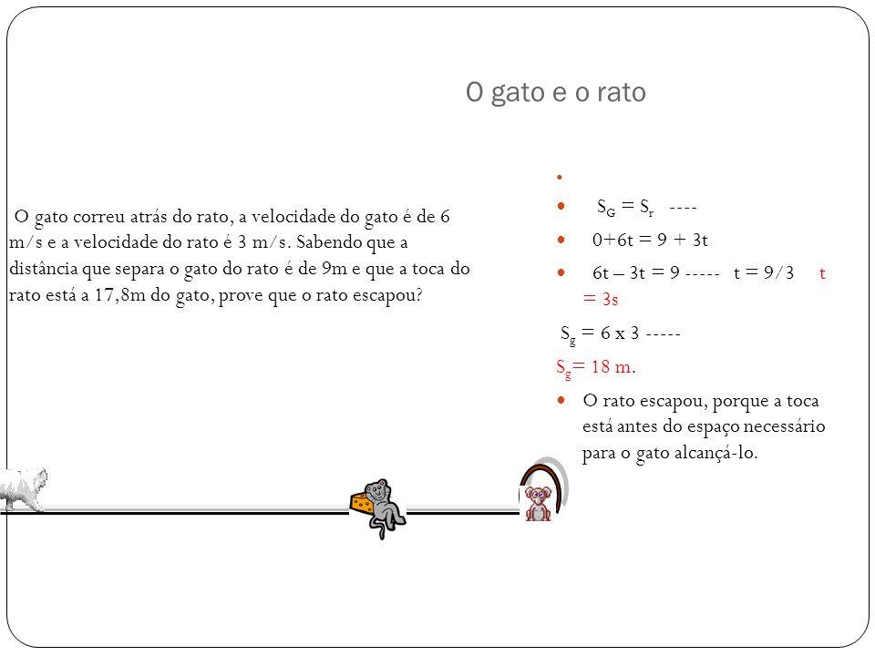 Solução A) A posição inicial S 0 = 10 m Velocidade V = - 4 m/s B) A palavra origem significa posição zero S=10 – 4t S = 0 t = 10/4 t = 2,5 s