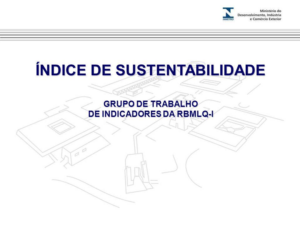 ÍNDICE DE SUSTENTABILIDADE GRUPO DE TRABALHO DE INDICADORES DA RBMLQ-I