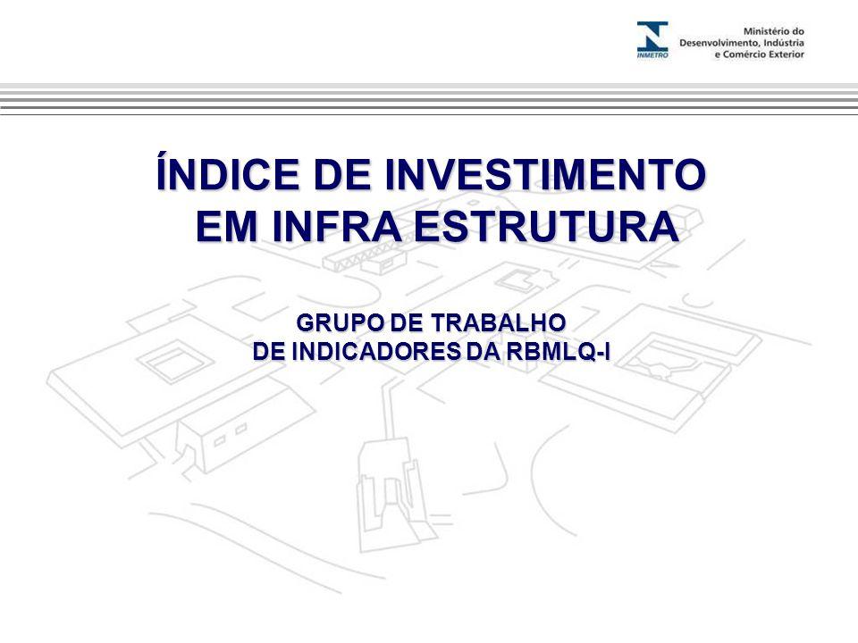 ÍNDICE DE INVESTIMENTO EM INFRA ESTRUTURA EM INFRA ESTRUTURA GRUPO DE TRABALHO DE INDICADORES DA RBMLQ-I