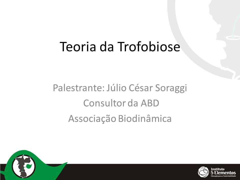 Teoria da Trofobiose Palestrante: Júlio César Soraggi Consultor da ABD Associação Biodinâmica