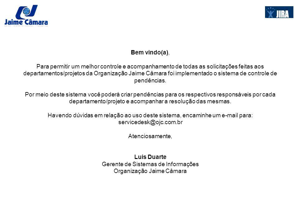 COMO ACESSAR O SISTEMA PARA REGISTRAR UMA PENDÊNCIA O primeiro passo para o registro de alguma pendência no sistema é acessar o endereço do mesmo, para isso carregue o navegador de internet de seu computador e acesse o endereço http://jira.ojc.com.br/.