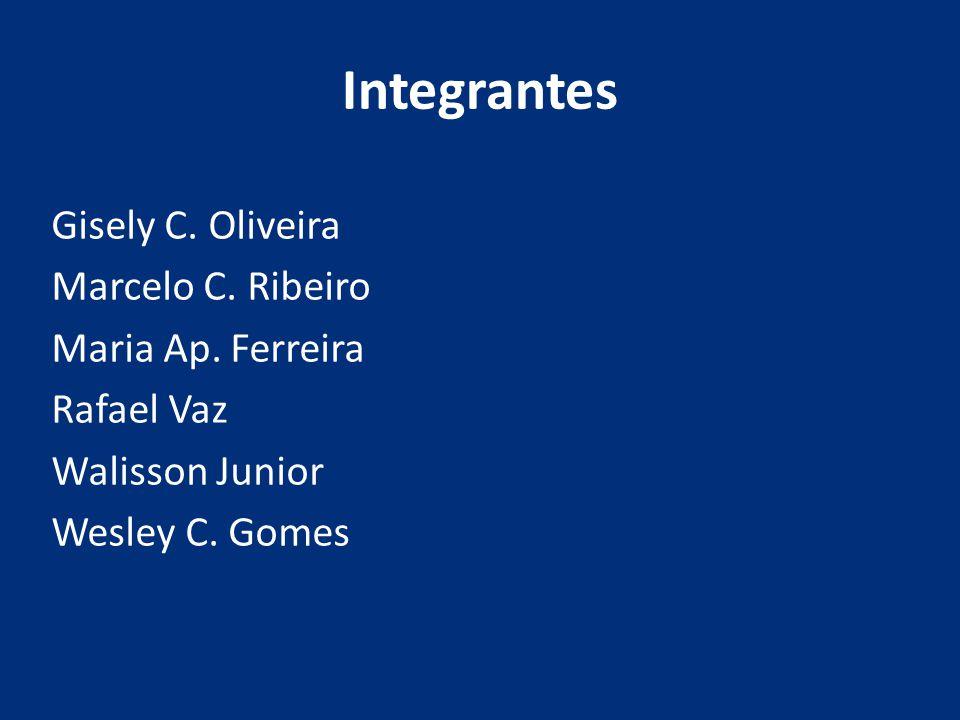 Integrantes Gisely C. Oliveira Marcelo C. Ribeiro Maria Ap. Ferreira Rafael Vaz Walisson Junior Wesley C. Gomes