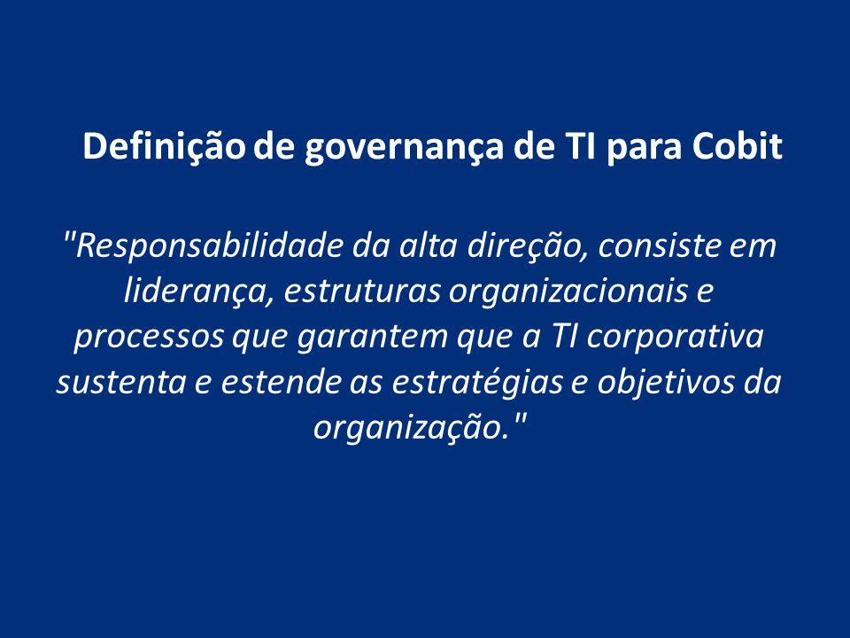 Definição de governança de TI para Cobit