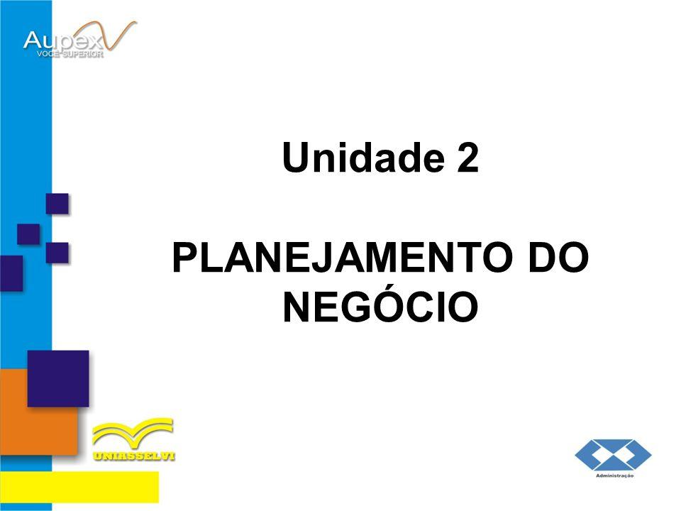 Unidade 2 PLANEJAMENTO DO NEGÓCIO