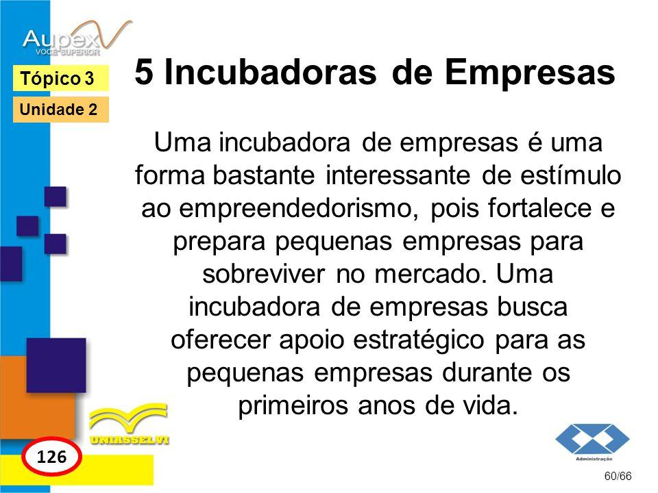 5 Incubadoras de Empresas Uma incubadora de empresas é uma forma bastante interessante de estímulo ao empreendedorismo, pois fortalece e prepara peque