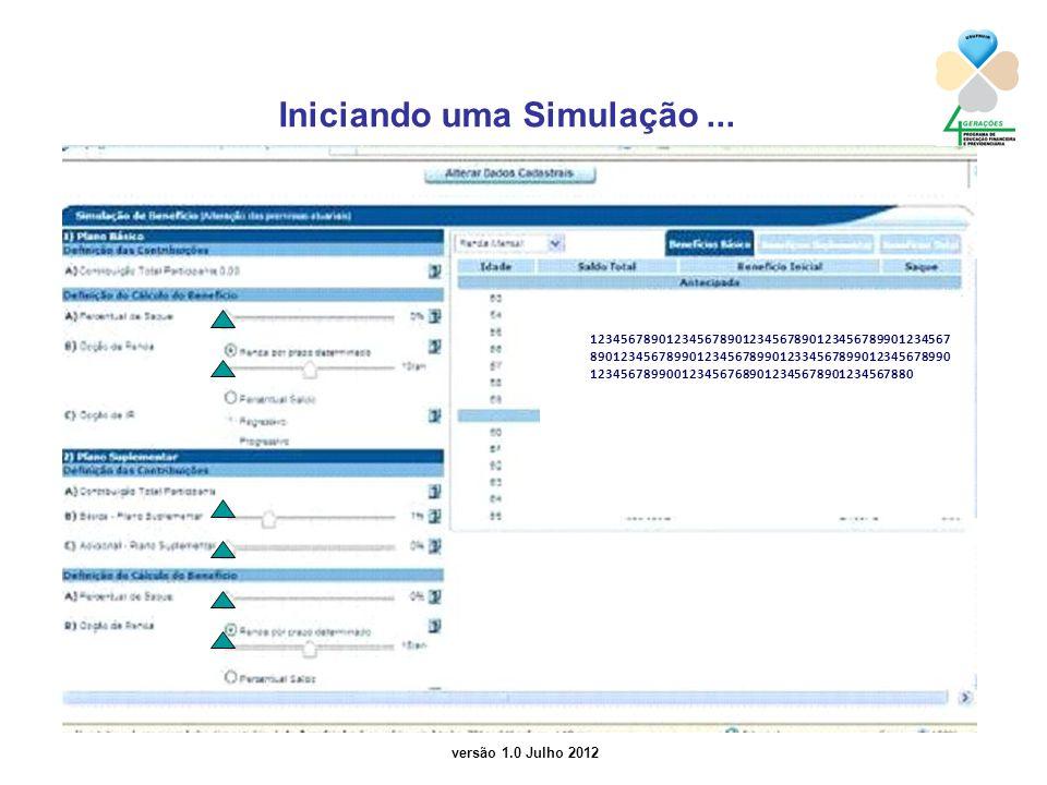 versão 1.0 Julho 2012 Iniciando uma Simulação...