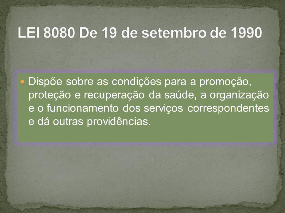 DISPOSIÇÃO PRELIMINAR Art.