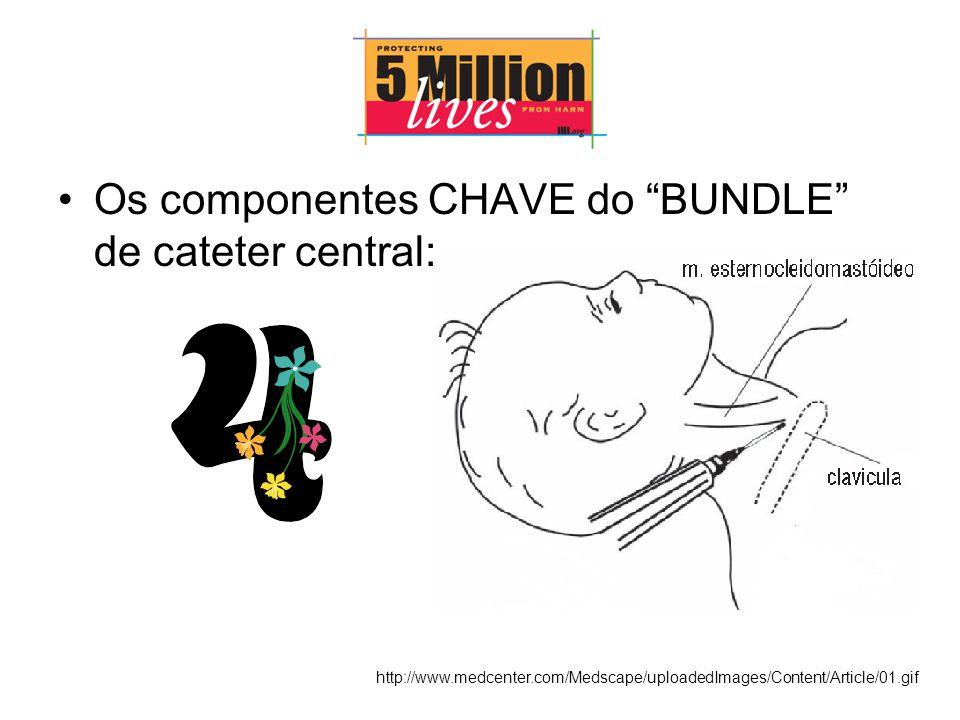 Os componentes CHAVE do BUNDLE de cateter central: http://www.medcenter.com/Medscape/uploadedImages/Content/Article/01.gif