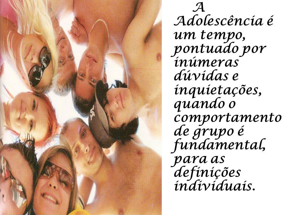 A Adolescência é um tempo, pontuado por inúmeras dúvidas e inquietações, quando o comportamento de grupo é fundamental, para as definições individuais