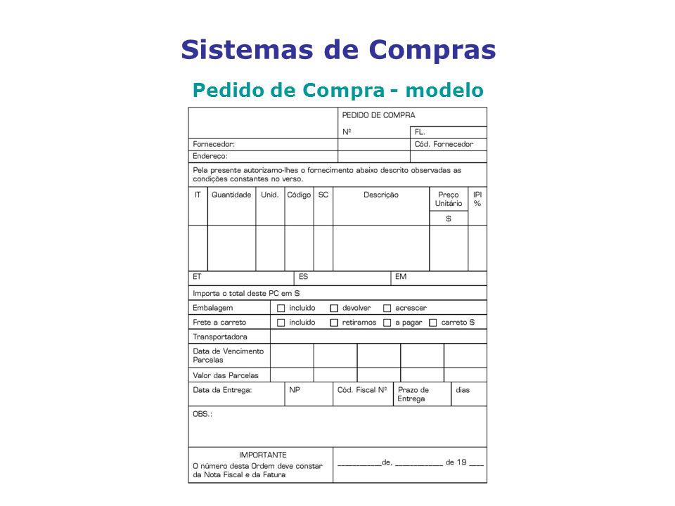 Sistemas de Compras Pedido de Compra - modelo