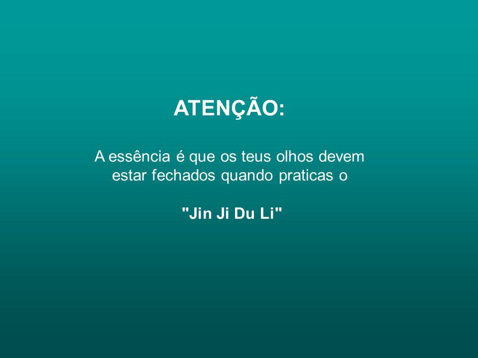 ATENÇÃO: A essência é que os teus olhos devem estar fechados quando praticas o Jin Ji Du Li