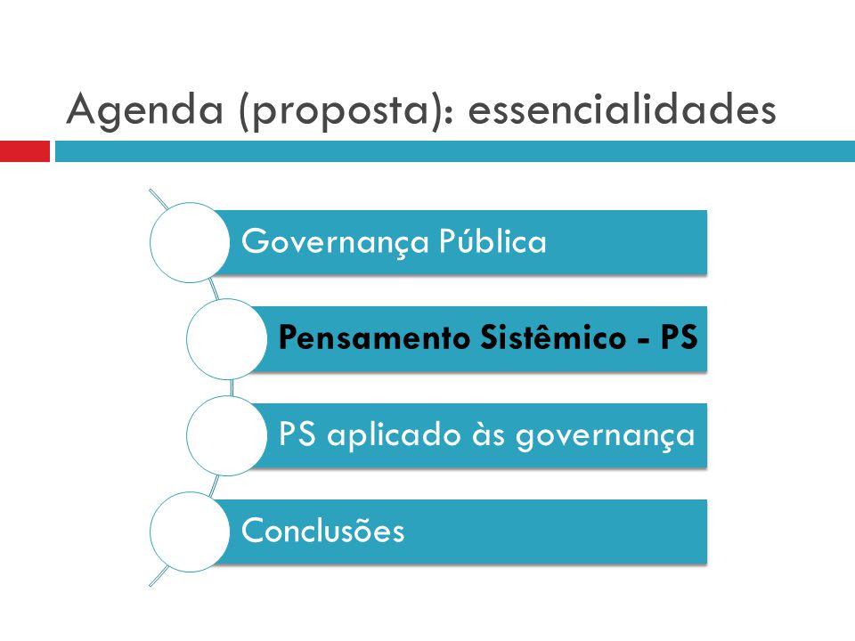 Governança pública, eficácia e eficiência: limitando a discussão.