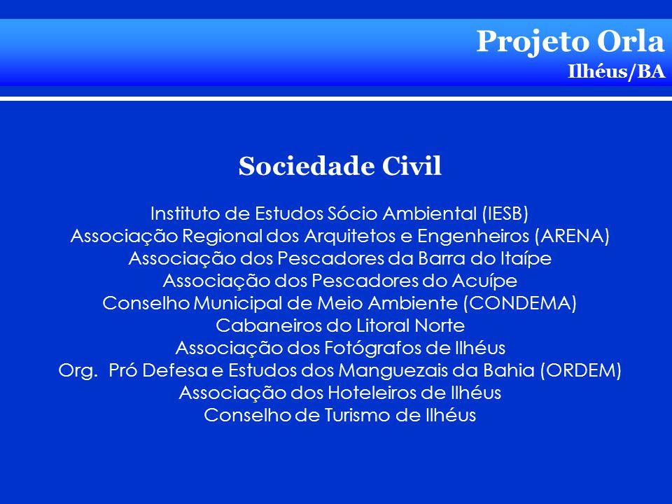 Projeto Orla Ilhéus/BA Sociedade Civil Instituto de Estudos Sócio Ambiental (IESB) Associação Regional dos Arquitetos e Engenheiros (ARENA) Associação