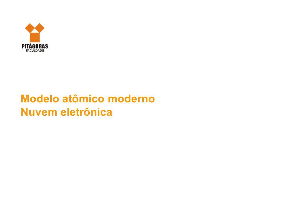 Modelo atômico moderno Nuvem eletrônica