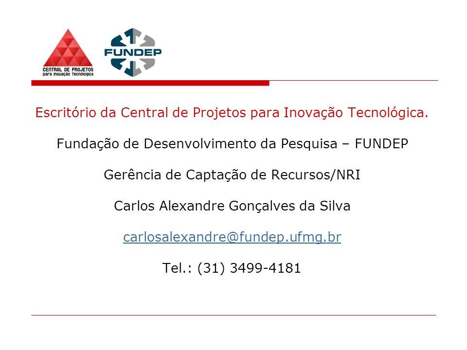 Escritório da Central de Projetos para Inovação Tecnológica.
