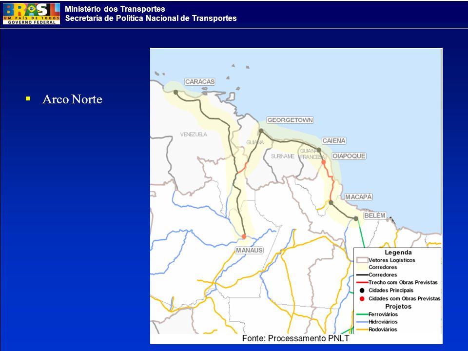 Ministério dos Transportes Secretaria de Política Nacional de Transportes Arco Norte