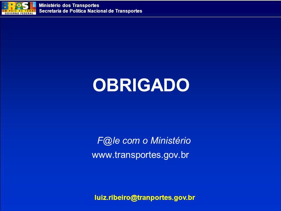 Ministério dos Transportes Secretaria de Política Nacional de Transportes www.transportes.gov.br F@le com o Ministério luiz.ribeiro@tranportes.gov.br