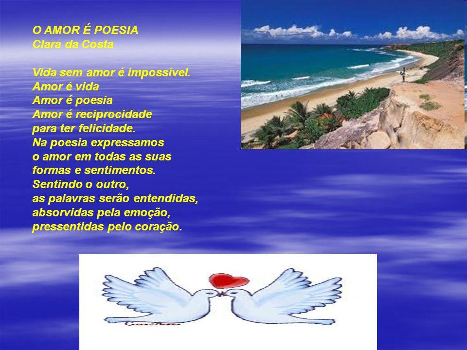 CANTO DE AMOR Clara da Costa Meu canto de amor é pra você... que como a chuva, rega meu corpo que espera pelo teu... Meu canto de amor é prá esse enco