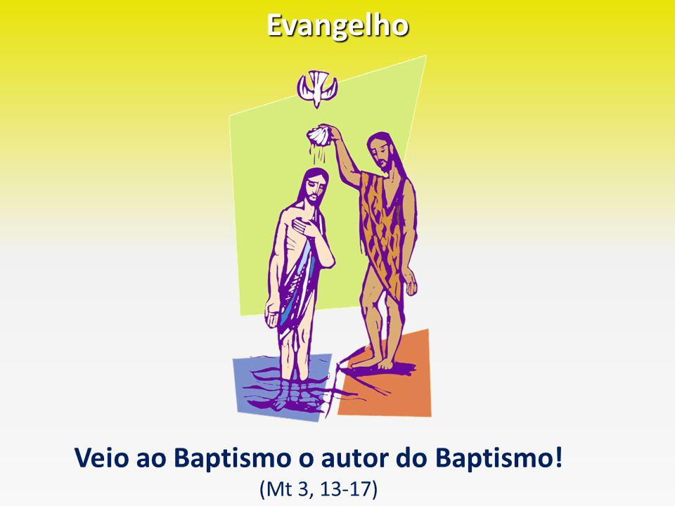 Evangelho Veio ao Baptismo o autor do Baptismo! (Mt 3, 13-17)