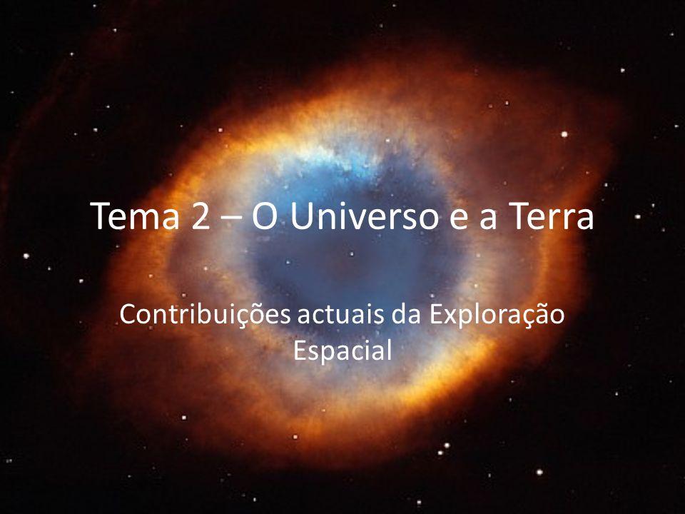 Tema 2 – O Universo e a Terra Contribuições actuais da Exploração Espacial