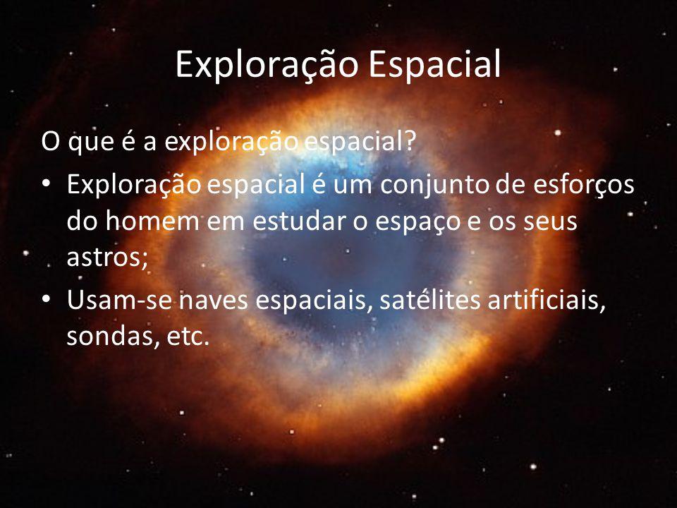 Exploração Espacial O que é a exploração espacial.