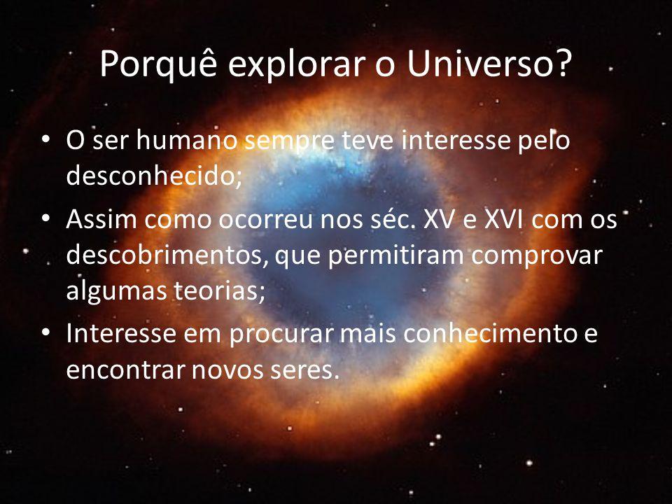 Porquê explorar o Universo.