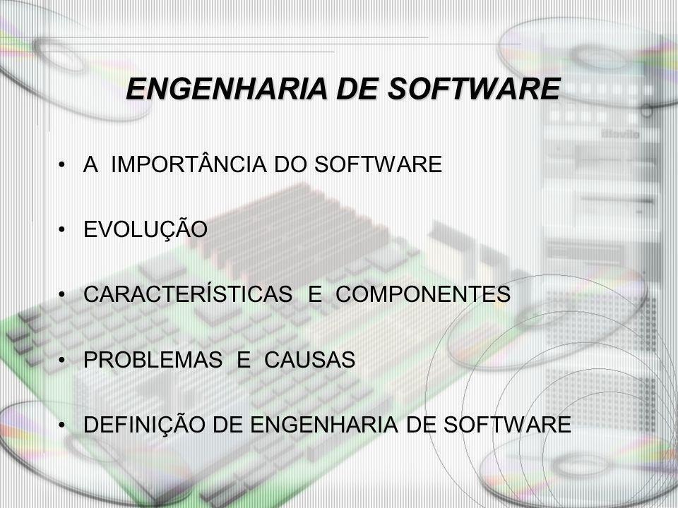 ENGENHARIA DE SOFTWARE ENGENHARIA DE SOFTWARE Compreender as características da Engenharia de Software.
