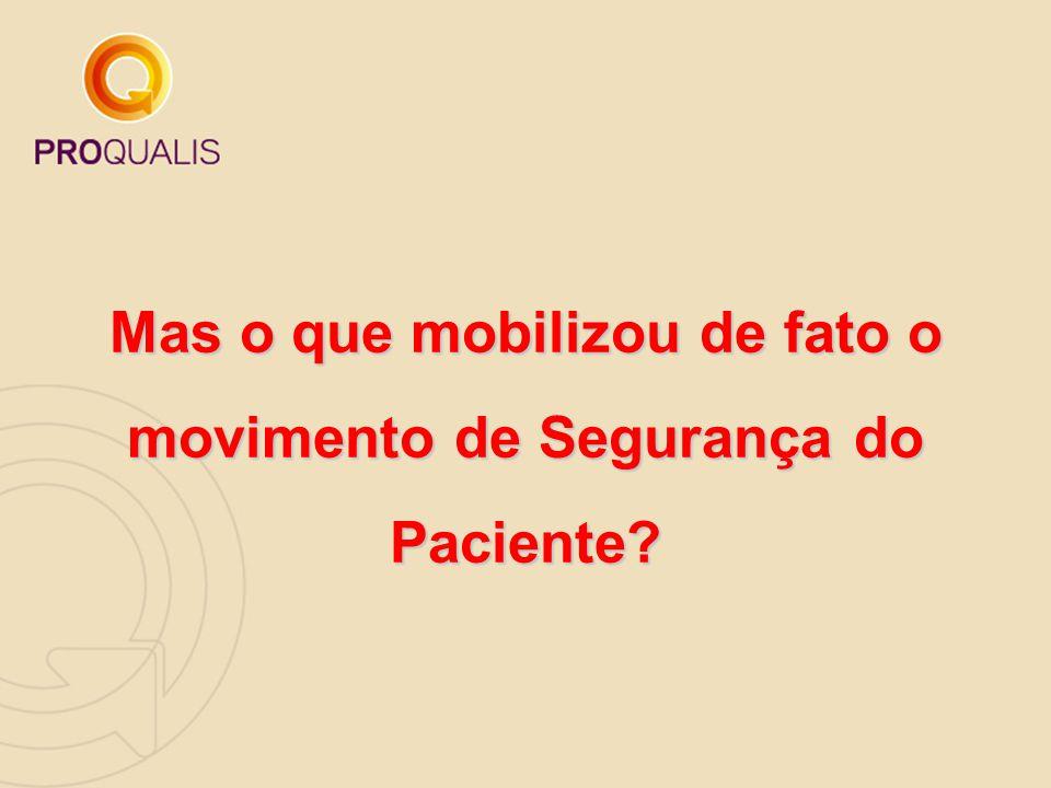 Mas o que mobilizou de fato o movimento de Segurança do Paciente?