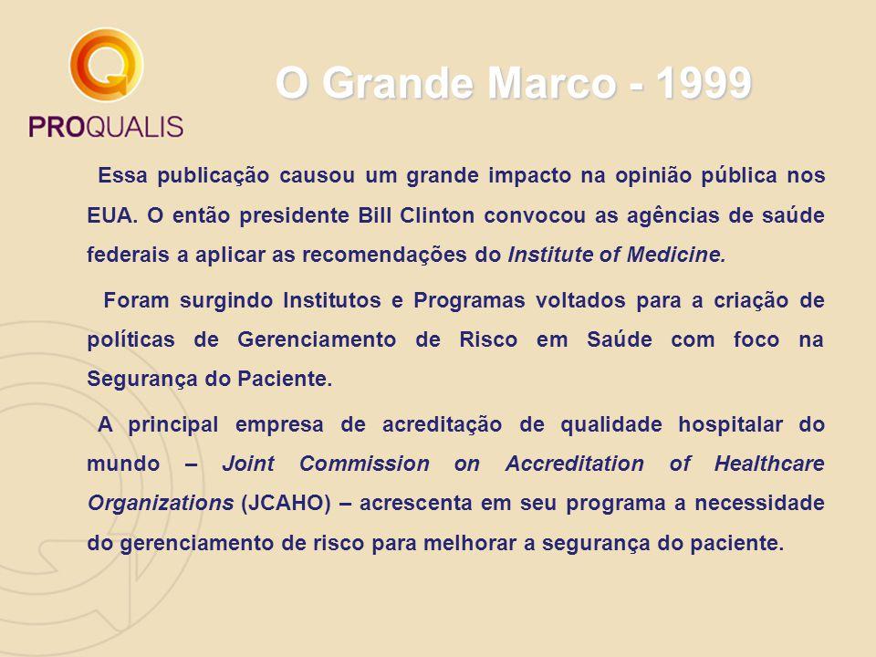 O Grande Marco - 1999 Essa publicação causou um grande impacto na opinião pública nos EUA. O então presidente Bill Clinton convocou as agências de saú