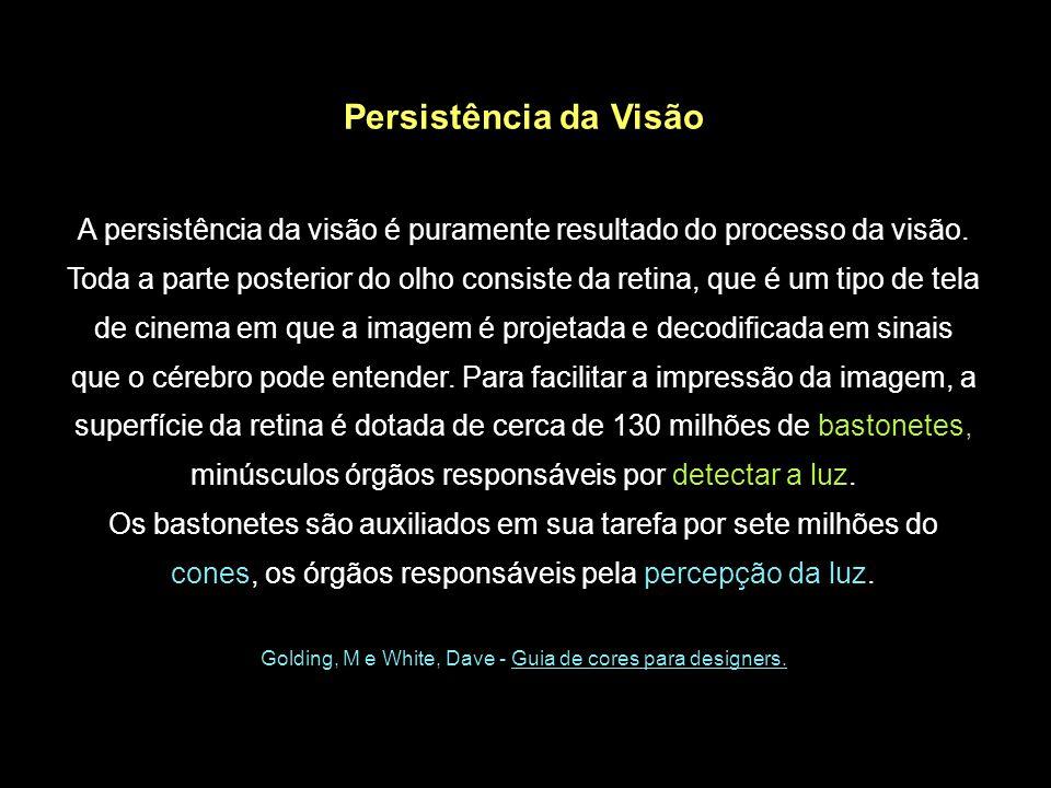 Persistência da Visão A persistência da visão é puramente resultado do processo da visão.