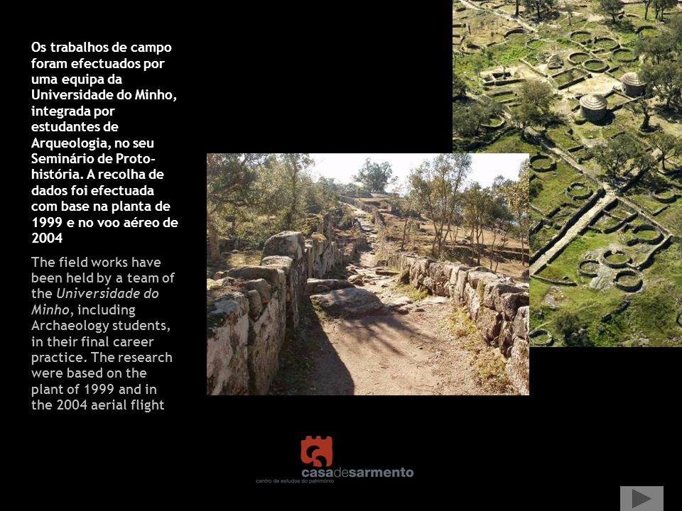 Um primeiro objectivo foi a divisão da área escavada por sectores e o inventário e registo das unidades domésticas, com as respectivas estruturas.